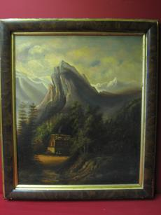 "2008485-0000  ""Cottage below the mountain"" by Unknown Artist at Antique Picture Frames, Ltd."
