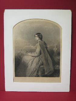 """Evangeline"" Engraving  2008381-0000   Antique Picture Frames, Ltd.   www.antiquepictureframesltd.com"