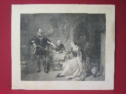 """The Signing of the Death Warrant for Lady Jane Grey""Engraving   2008384-0000   Antique Picture Frames, Ltd.   www.antiquepictureframesltd.com"