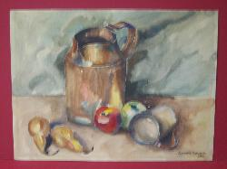 "1935 Watercolor  ""Pitcher & Fruit""   2008390-0000   Antique Picture Frames, Ltd.   www.antiquepictureframesltd.com"