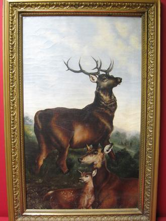 "2008494-0000  ""A Family of Deer"" at Antique Picture Frames, Ltd."