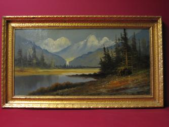 "2008479-0000  ""Mountain landscape""  by Unknown Artist at Antique Picture Frames, Ltd."