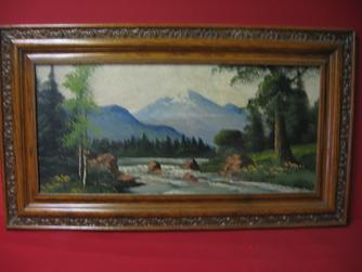 "2008480-0000 ""Mountain stream"" by Unknown Artist at Antique Picture Frames, Ltd."