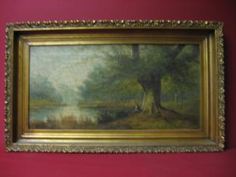 "2008482-0000  ""Man resting by stream"" by  ""Flem"" at Antique Picture Frames, Ltd."